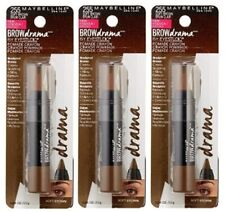 Set Of 3 Maybelline Brow Drama Creamy Filling Pomade Crayon 255 Soft Brown