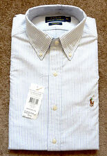 Ralph Lauren Men's Striped Collared Casual Shirts & Tops