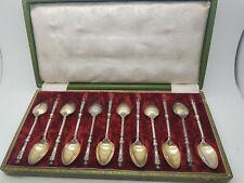 Coffret 12 petite cuillère argent massif minerve Style russe Napoléon 3 1860