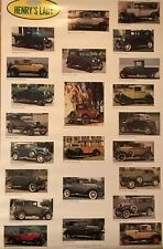 Ford Model A (Henry's Lady) History  1928-31 Original Rare Car Poster Stunning!
