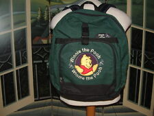 WINNIE THE POOH HD BACK PACK (GREEN)W/Sewn in LOGOS By:DISNEY PRODUCTS>>>LQQK>>>