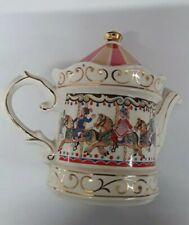 Sadler Edwardian Entertainments Carousel Teapot -Vtg Collectable Teapot Kitsch
