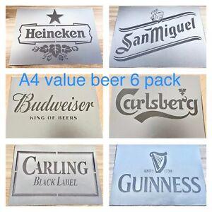 Beer Stencil, Bar Lager Sign Garden Pub Wall Alcohol Barrel Mancave Decor