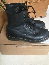 Doc Martens Black Pascal Soft Leather Boots 1460 Uk5/38 Used 8 Hole