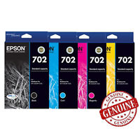 GENUINE Original Epson 702 4 Ink Cartridge Value WorkForce Pro WF-3720 WF-3725