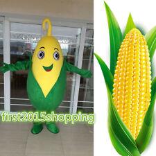 Adult Corn Maize Mascot Costume Cartoon fancy dress Christmas Adversting Unisex