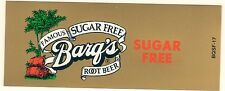 """Barq's Root Beer, Sugar Free, Vending Machine Insert, 1 7/8"""" x 4 5/8"""""""