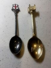 Vintage Silver Plated Souvenir Spoons LONDON Royal Palace & Coat of Arms  (1 F)