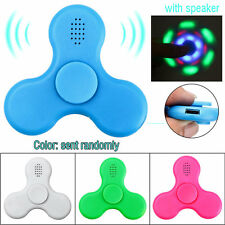 LED Bluetooth Speaker Music Fidget Spinner EDC Hand Spinner Toys Stress Reducer