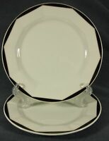 Villeroy & Boch VARIA - BLACK and GOLD Salad Snack Plates Lot of 2 Luxembourg