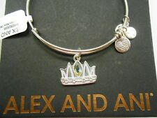 Alex and Ani Queen Mom Bangle Bracelet Shiny Silver NWTBC