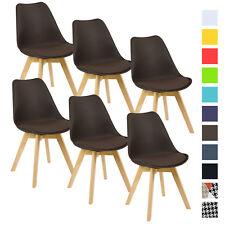 6er Set Esszimmerstühle Design Esszimmerstuhl Küchenstuhl Holz Braun BH29br-6