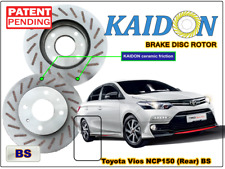 "TOYOTA VIOS NCP150 disc brake rotor KAIDON (Rear) type ""BS"" / ""RS"" spec"
