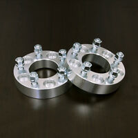 """25mm (1"""") Thick - 5x115 to 5x115 Hubcentric Wheel Spacers - 14x1.5 Studs"""