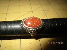 Sterling Silver & GOLDSTONE Ring Size 8.25