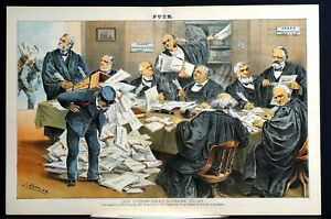 Supreme Court 1885 MILLER WAITE FIELD WOODS HARLAN BLACHFORD GRAY BRADLEY MATTHE