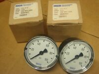 2 NOS PSI Gauge WIKA- 9690463 up to 100 PSI 1/8 NPT