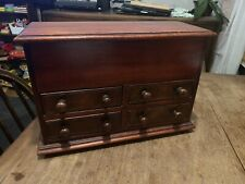 Antique Mahogany Apprentice Piece - 4 Drawers - Top Compartment. Stunning!!