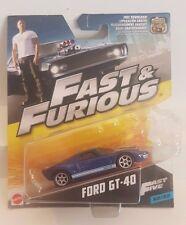 Mattel Fast & Furious 2017 32/32 FORD GT-40 1:55 (A+/A)