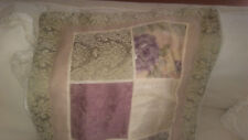 Croscill Patchwork Damask Floral Multi Ivory King Euro Sham-Gently Used