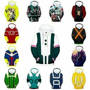 My Hero Academia Kids Adult Unisex 3D Printed Hoodie Sweatshirt Pullover Coat