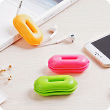 Headphones Earphones Cable Wire Pouch Turtle Case Winder Anti-Tangle Organizer