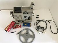 Vintage Eumig Projector P8 Automatic 8mm Film Austria With Accessories