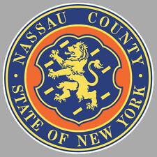 STICKER NASSAU COUNTY STATE OF NEW YORK USA ETATS UNIS AUTOCOLLANT 9cm NA059