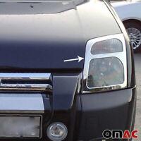 Fits Ford Transit Connect 2010-2013 Chrome Headlight Trim Overlay Frame 2 Pcs