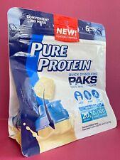 Pure Protein Quick Dissolving Paks Whey Isolate Vanilla Shake 6 Packs Exp:11/20