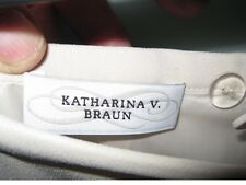 KATARINA V. BRAUN - LONG Beige Skirt UK 10  Designer Label Under HALF PRICE JZ15