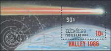 LAOS Bloc N°90 ** Bf Espace, comète de Halley 1986, Space Sheet Sc#733 MNH