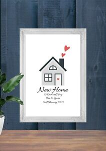Personalised House Warming Print First New Home Gift With Names Dates Number