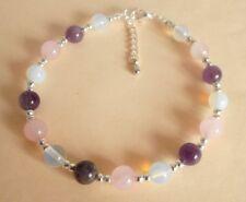 Gemstone Crystal Healing Menopause & Hysterectomy Symptoms Anklet Bracelet