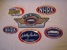 LOT OF NHRA CHAMPIONSHIP DRAG RACING HOT ROD WALLY PARKS PATCHES AND STICKERS