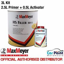 Max Meyer 2k High Build 3011 Grey Primer Filler + Hardener Top Filler 3L Kit