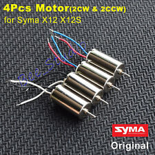 Original 4Pcs CW/CCW Main Motor Part for Syma X12 X12S Nano RC Quadcopter Drone