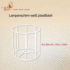 Lampenschirm weiß plastifiziert Ø o. 20cm, Ø u. 20cm, h 20cm