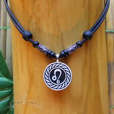 Sternzeichen Halskette LÖWE Leo verstellbar Lederkette Surferkette Horoskop