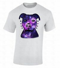 Pitbull Galaxy T-SHIRT Animal Lover Pet Dog Face Funny Puppy Cool Fancy Shirt
