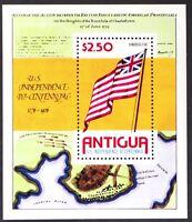 AT043 ANTIGUA 1976 U.S Independence Bicentennial S/S Mint NH