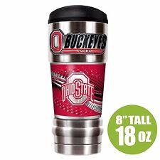 NCAA Ohio State Buckeyes Stainless Steel MVP Double Wall Travel Tumbler Mug