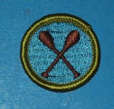 CANOEING TYPE G MERIT BADGE -  CLOTH BACK  -  BOY SCOUTS -  6797