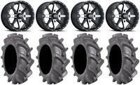 "ITP Cyclone 14"" Wheels Machined 30"" BKT AT 171 Tires Textron Wildcat XX"