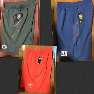 j NFL Packers Denver Pats Shorts Giants Athletic Bucs Miami Mens Size Large
