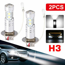 2X H3 LED Fog Light 100W Super Bright CREE Car Driving Light White Bulbs 6000K