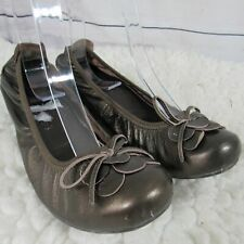 Blondo Shoes Womens 6.5 W Brown Ballet 1 Inch Wedge