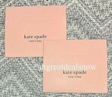 "New Kate Spade Empty Gift Box 10""x 6""x  2 1/2"" Pink   Lot of 2  1 Piece Box"