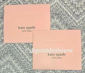 "New Kate Spade  Lot of 2  Empty Gift Box 10""x 6""x  2 1/2"" Pink  1 Piece Box"