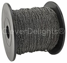 Curb Chain Spool - 330 Feet - Gunmetal - 2x3mm Link - Bulk Roll 100 Meters